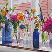 Kitchen Window Sill Poster by Karol Wyckoff