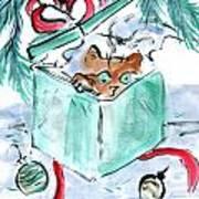 Kitten In A Shredded Present Poster