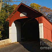 Knecht's Covered Bridge In October In Bucks County Pa Poster