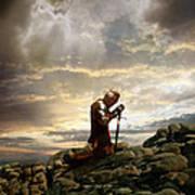 Kneeling Knight Poster
