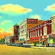 Knepp's And Kresge's Stores On Washington Av. In Bay City Mi 1940 Poster