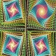 Knitting Poster by Anastasiya Malakhova