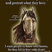 Know Wild Horses Poster-huricane Poster by Linda L Martin