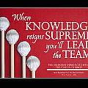 Knowledge Reigns Supreme Poster