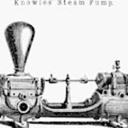 Knowles' Steam Pump, 1863 Poster