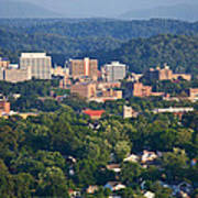 Knoxville Skyline In Summer Poster
