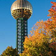 Knoxville Sunsphere In Autumn Poster