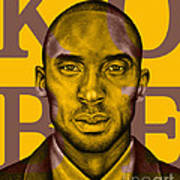 Kobe Bryant Lakers' Gold Poster by Rabab Ali