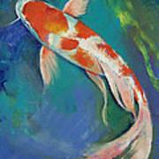 Kohaku Butterfly Koi Poster by Michael Creese