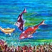 Koi and Joy Fish Poster