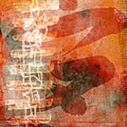 Koi In Orange Poster
