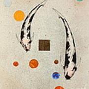 Koi Universe Utsuri Mono Painting Poster