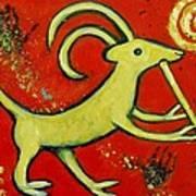 Kokopelli's Goat Tribal Trickster Poster