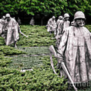 Korean War Veterans Memorial Poster by Olivier Le Queinec