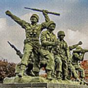 Korean War Veterans Memorial South Korea Poster