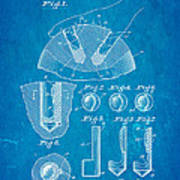Kramer Bowling Bowl Finger Hole Insert Patent Art 1949 Blueprint Poster