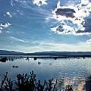 Krbava Field Of Lika Blue Lake Poster