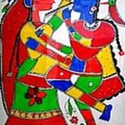 Krishna And Radha Poster by Shruti Prasad