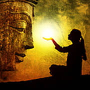 Krishna Devotion Poster