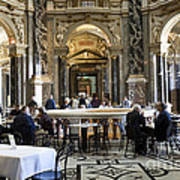At The Kunsthistorische Museum Cafe II Poster