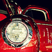 Kustom Red Coupe Poster