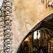 Kutna Hora Bone Church Poster by Joanna Madloch