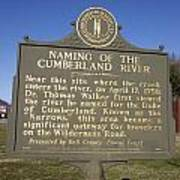 Ky-2045 Naming Of The Cumberland River Poster