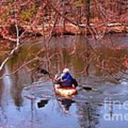 Kyaking On A Lake In Spring Poster