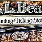 L. L. Bean Hunting And Fishing Store Since 1912 Poster