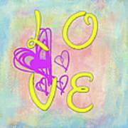 L O V E Disney Style Poster