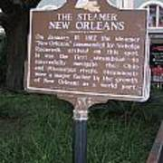 La-001 The Steamer New Orleans Poster