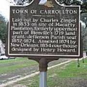 La-007 Town Of Carrollton Poster