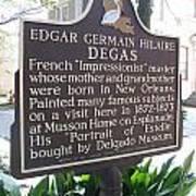 La-012 Edgar Germain Hilaire Degas Poster