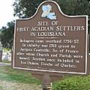 La-029 Site Of First Acadian Settlers In Louisiana Poster