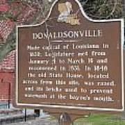 La-032 Donaldsonville Poster