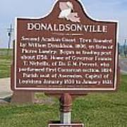 La-033 Donaldsonville Poster