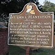 La-034 St. Emma Plantation Poster
