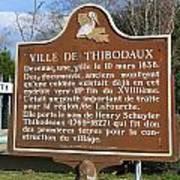 La-036 Ville De Thibodaux Poster