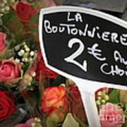La Boutonniere Poster