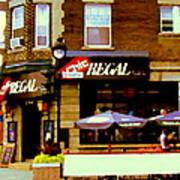 La Chic Regal Taverne Au Coin Rue Centre Et Charlevoix Pointe St Charles Scene De Rue Carole Spandau Poster