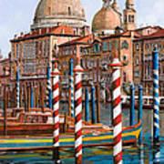 La Chiesa Della Salute Sul Canal Grande Poster
