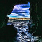 La Jolla Cave By Diana Sainz Poster