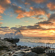 La Jolla Cove At Sunset Poster