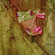 La Petite Grenouille Verte Poster