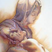 La Pieta By Michelangelo Poster