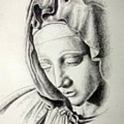 La Pieta Madonna Poster by Heather Calderon