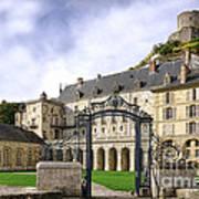 La Roche Guyon Castle Poster by Olivier Le Queinec