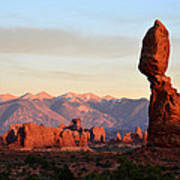 La Sal Mountains From Balanced Rock Poster