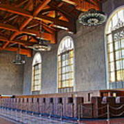 Los Angeles Union Station At Its 75th Anniversary Poster