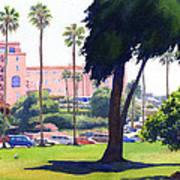 La Valencia Hotel And Cypress Poster